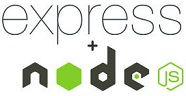 Combined Express and Node.js logo